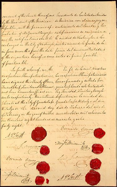 Final Page of the Treaty of Guadalupe Hidalgo