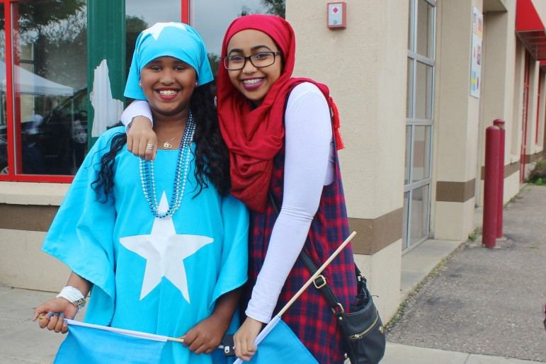 Fatima Yusuf and Saamia Ali celebrate Somali Independence Day in Minneapolis, June 2015. Source: Twin Cities Daily Planet