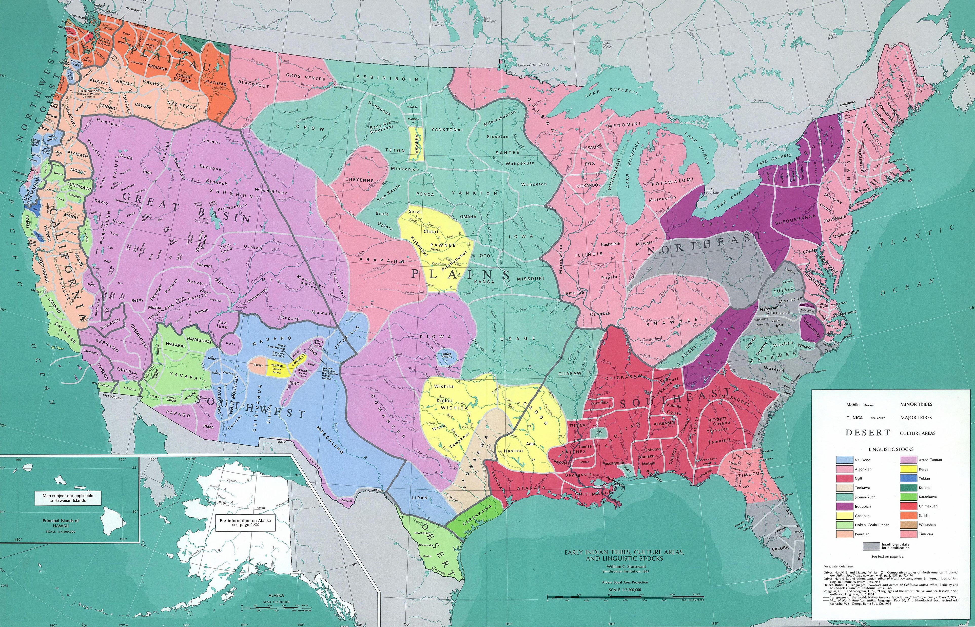 Early Indian Tribes, Culture Areas, and Linguistic Stocks