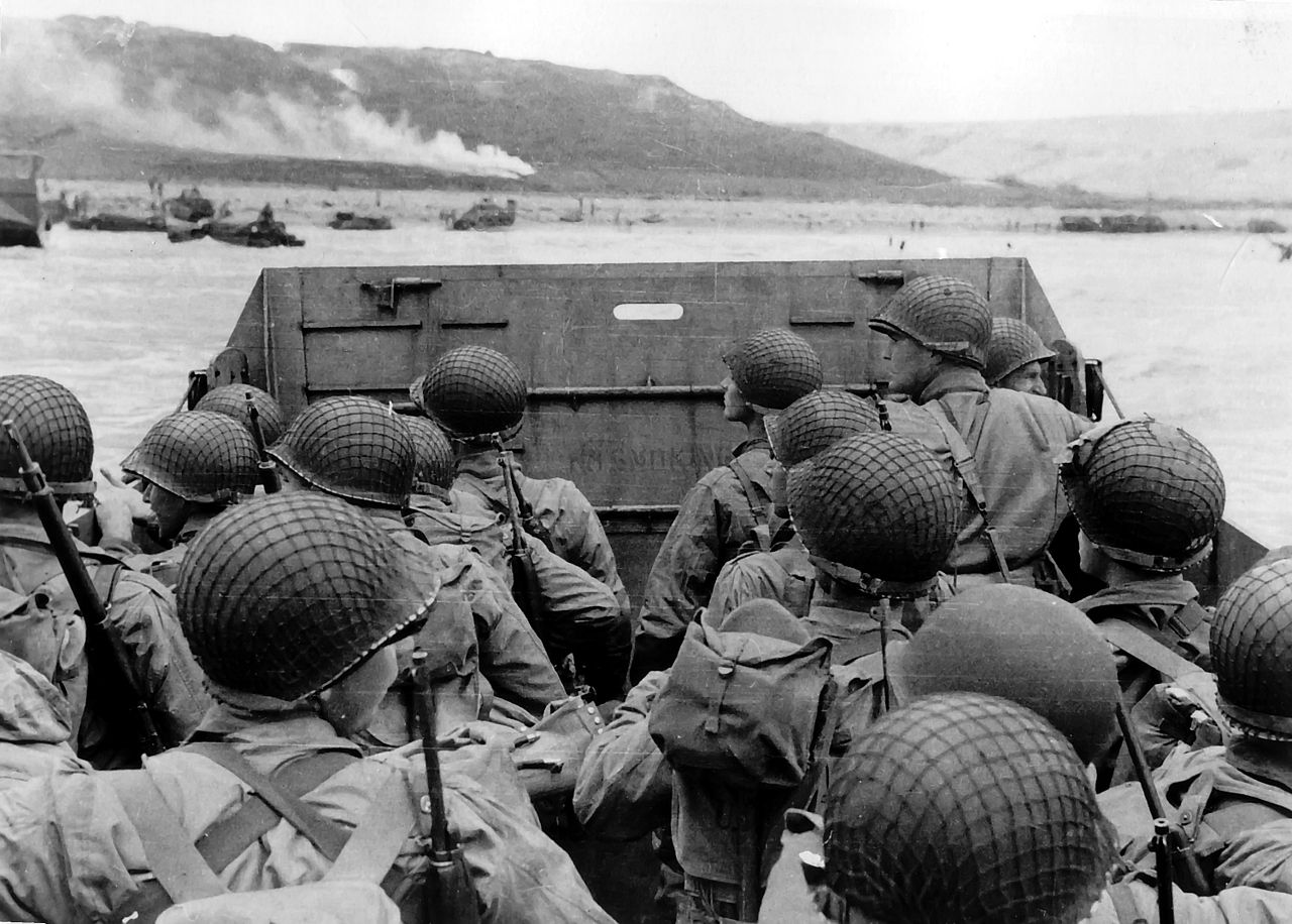 PAST WWII Approaching Omaha Beach on D Day