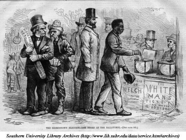 African American male casting his vote in a DC election