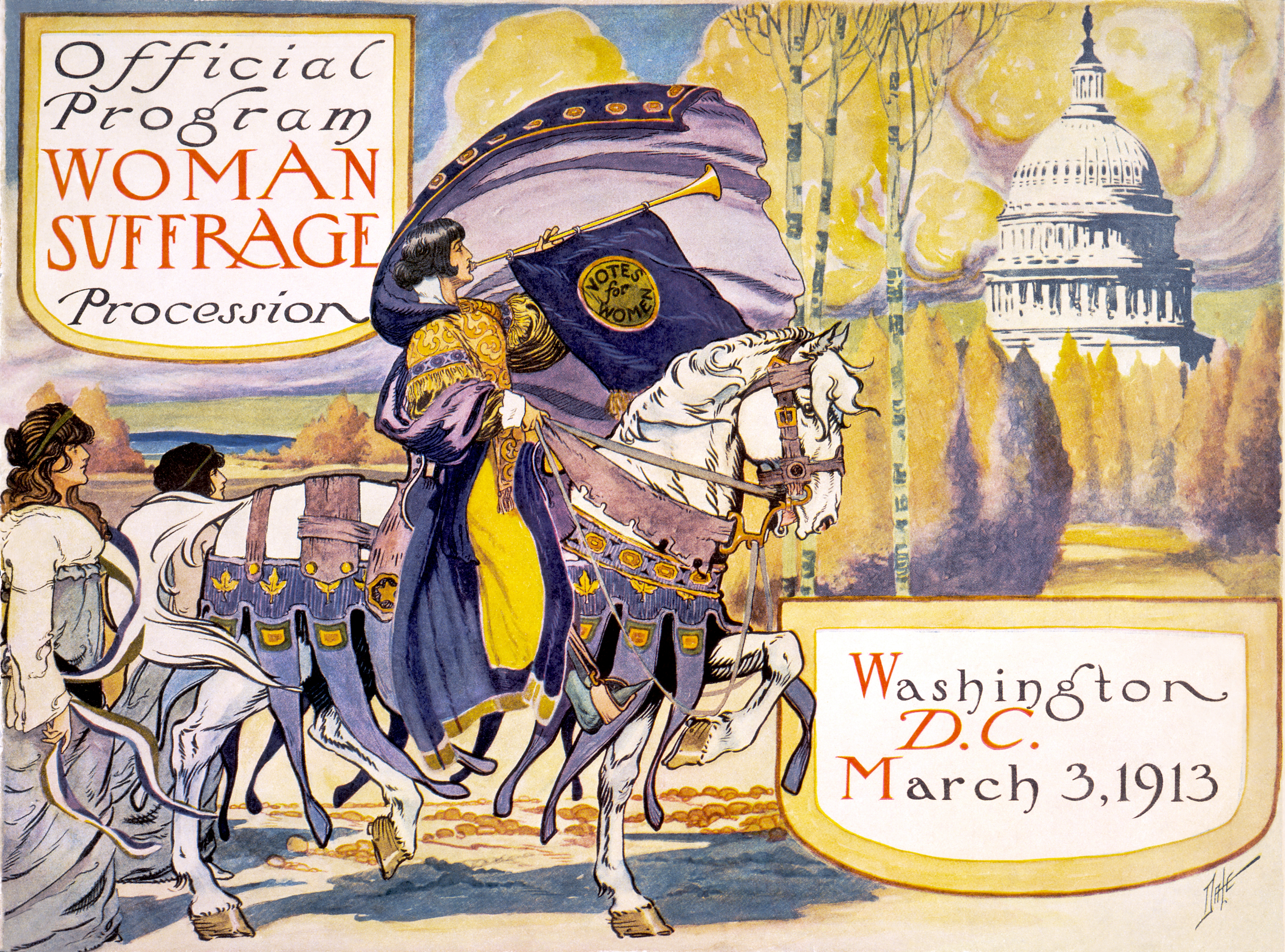 Official Program for Woman Suffrage Procession, March 3, 913