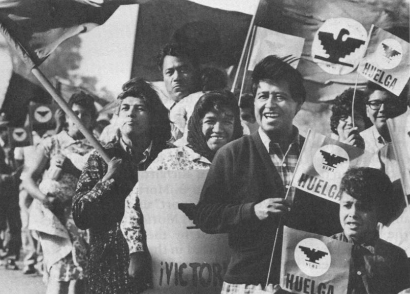 Cesar Chavez and the United Farm Workers; Source: OB Rag